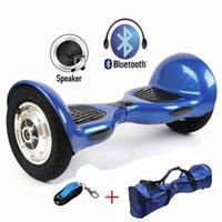 Monopatín eléctrico de 10 pulgadas Scooter 2 ruedas Smart Balance Hoverboard con altavoz de Bluetooth LED Romote Control y bolsa sin impuestos