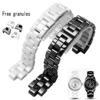 Convex Armband Keramik Schwarz Weiß Uhr für J12 Armband Bands 16mm 19mm Bügel Spezielle Massiv Verbindungen Faltschliesse