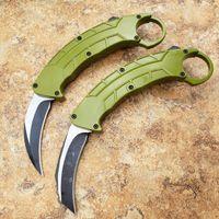 Komodo auto garra karambit dupla ação tática faca de acampamento facas de caça fodling xmas faca presente