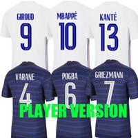 플레이어 버전 2021 프랑스 축구 유니폼 MBappe Grieszmann Pogba 21 22 국립 팀 프랑스 Maillot 드 Foot Varane 축구 셔츠 Kante Tops Thailand 품질