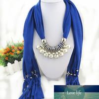 Pérola pingente lenço tassel colar lenços de jóias para as mulheres preço de fábrica especialista designat mais Último estilo status original