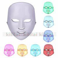LED 라이트 테라피 얼굴 아름다움 기계 피부 미백 장치에 대 한 마이크로 토큰과 얼굴 목 마스크 LED 송료 무료