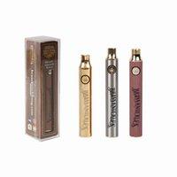 Hot Brass Knuckles 650mAh 900mAh Legno Vape Pen Preriscaldare VV Tensione variabile Usb Caricabatteria per 510 Thick cartuccia dell'olio del DHL