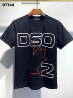 DSQ Phantom Kaplumbağa 2020ss Yeni Erkek Tasarımcı T Gömlek İtalya Moda Tişörtleri Yaz Erkekler DSQ T-shirt Erkek En Kaliteli 100% Pamuk Top 4008