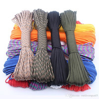 7 hebras interiores 250 Colors Paracord 550 Cuerda Tipo III 7 soporte 25feet Paracord cuerda cuerda del kit de supervivencia de venta al por mayor