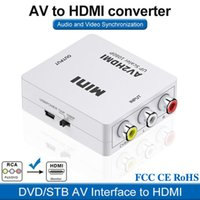 Konnektörler Mini AV2HDMI Video Converter Box HDMI RCA AV CVSB L R Video Destek NTSC PAL Çıkışı