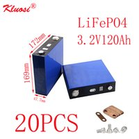 KLUOSI 20PCS LiFePO4 Batterie 3.2V120Ah 20S / 60V Pack für Solar Energiespeicher Inverter EV Marine-RV Golf US / EU TAX FREE