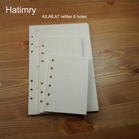 Blocos Hatimry A5 A6 A7 szie reabastecedor Caderno Agenda Livro Notebook fornece papel Defter Escolar Sketchbook Escola