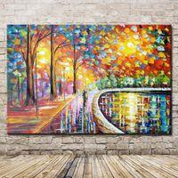 Mintura Arte Nuevo pintado a mano Cuchillo óleo del paisaje de pintura sobre lienzo para las pinturas Imagen de la sala principal del arte en la pared de lona