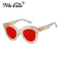 OMS CUTIE de lujo de gran tamaño del gato de los ojos Gafas de sol de mujer de marca del diseñador retro vintage 80s barroco Cateye los vidrios de Sun Shades 670 IYRF