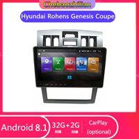 Android 8.1 radio de coche unidad GPS Cabeza de navegación de DVD para Rohens Genesis Coupe 2004-2006 Soporte de control del volante