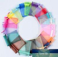 """Bir Colour100Pcs 7 * 9cm (2.76"""" x 3.54"""" ) Torbalar Düğün Noel Hediyelik Çantalar Favor Şeffaf İpli Organze Takı Birden fazla renk boşuna"""