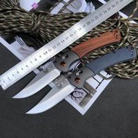 벤치 메이드 10,580 접는 칼 9cr18mov 철강 생존 장비 야외 캠핑 서바이벌 EDC 작은 접는 나이프 도구 AXIS 시스템