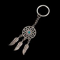 Famshin الأزياء حلم الماسك نغمة مفتاح سلسلة الفضة اللون الدائري ريشة الشرابة سلسلة المفاتيح حول الخصر مفتاح سلسلة للهدايا