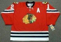 2018 personnalisé hommes femmes jeunesse Stan Mikita Chicago Blackhawks 1963 CCM Vintage Vintage de Hockey Jersey Bualie-Coupé Top Qualité Ton nom N'importe quel numéro