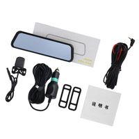 10 pulgadas de pantalla táctil del coche DVR de los medios de comunicación de doble lente de la cámara grabadora de vídeo Espejo retrovisor Dash Cam Auto cámara Full HD 1296P