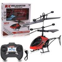 Mini RC helicóptero aviones no tripulados Infraed inducción de 2 canales electrónicos divertido suspensión remoto control de la aeronave QuadCopter aviones no tripulados para niños Juguetes