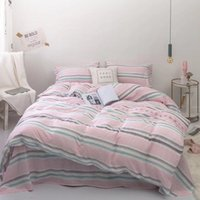 100% Cotton Duvet Cover Soft Bed sheet Pillowcase Pink Blue King Queen Twin size Bedding set Fitted sheet ropa de cama