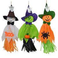 Хэллоуин тыква чучело Scary Симпатичные тыквы Бумажные куклы Детские игрушки кисточкой Стро Дух Подвеска висячие Hallowmas декора благосклонности партии D82801