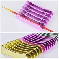 5 Izgara Nail Art Kalem tutucu Nails Salon Fırça Aksesuar Oyma UV Jel Kristal Kalem Taşıyıcı Depolama Manikür Aracı Tutucu Stand Raf