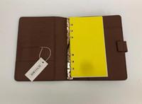 Leather-foglia a foglia di pelle multi-funzione notebook di fascia alta Business Business Nota Blocco note Meeting Memorandum Book Record Cartella Disassemblaggio Senzapad Blocco note