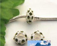 50 adet 925 işaretli gümüş Seti burgusu boncuk Charms büyük delik gevşek boncuk bilezik PSZ614