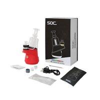 Oryginalne Soc Dab Rigs Tool Email Kit Glass Bubbler Wax Vaporyzer z New Box Opakowanie Mini E Nail DAB Zestaw