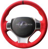Красный Suede Рука Шитье крышки рулевого колеса для Lexus LX является серия RX350 ES240 ES250 ES300 ES350 RX CT200 GX400 LS 600hL ES