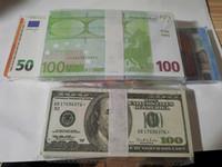 Beste und realistischste Requisite Pretend Euro-Dollar-Pfund Papierkopie-Banknote-Prop-BAR-Requisiten Geld 100pcs / Pack 05