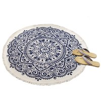 Nordic Cotton and Linen Modern Minimalist Retro Carpet Round...