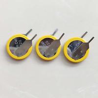 100 шт. PO POT 3V CR1220 Кнопка Кнопка Батарея с выщелами PINS