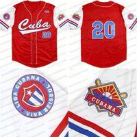 Big Boy Cuba Latin Legacy Mens Womens Youths Red White Bianco 100% Cucito Maglia da baseball