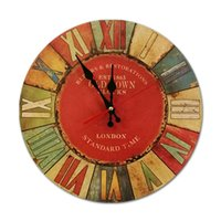 Relógios de parede simples relógio de moda moderno design criativo novidade vintage silencioso quartzo montre murale lar dd50wc