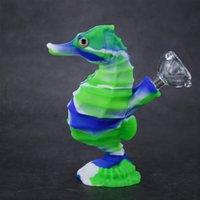 Cookahs Water Bong 6 дюймов животных формы силиконовые курительные трубы Pet Package Bubbler Piere Line Crack Cool Cool Dab