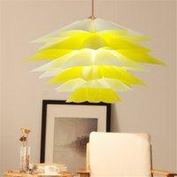 Quebra-cabeça moderno DIY Lotus candelabro barato lâmpada Luzes QI PP Pendant LED Lâmpada de suspensão para Cafe Restaurant Decoration