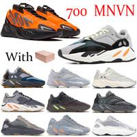 جديد برتقالي الصلبة رمادي عداء 700 عاكس الثلاثي العظام الأسود الكربون تيل المغناطيس الأزرق الرجال النساء الأحذية كاني ويست الاحذية 700 أحذية رياضية