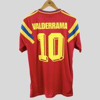 الرجعية كولومبيا 1990 قميص الرئيسية لكرة القدم الفانيلة فالديراما اسكوبار فوتبول Camiseta خمر كرة القدم القمم الكلاسيكية كيت