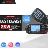 QYT KT-8900D 25W Quad Band Mobile Car Radio 4 Band 136-174MHz / 400-480MHz UPGRADE KT8900 voiture talkie-walkie 10 KM BJ-218 BJ-318