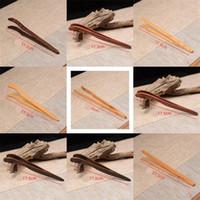 Bamboo thé classique Clips thés brucelles Radian alimentaires en bois Coffe tenailles Infuser coffe Outils Droit Type 1 9hh C2