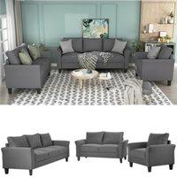 الكلاسيكية عالية الجودة الكبار Relaxable U_STYLE البوليستر مزيج 3 قطع طقم جلوس، غرفة المعيشة مجموعات أريكة سرير WY000036EAA