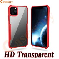 Transparent Shockproof Acrylic Hybrid Armor Bumper TPU PC Ca...