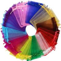 Organza Sheer Presente Doces Sacos de Casamento Favor Organza Bolsa Jóias Festa de Jóias Xmas Sacos 5x7cm, 7x9cm, 9x12cm, 10x15cm, 11x16cm