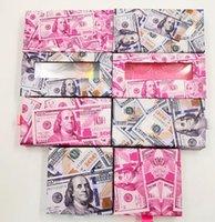 Mink Eyelashes Box US dollars Eyelash Packaging Empty Lash Case Eyelash Box without Eyelashes Money Packing Lash Boxes GGA3739