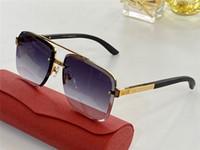 Новая мода солнцезащитные очки 820098 квадратных простой половины рамы деревянные ноги дизайн очки высокого качества типа лета защита от ультрафиолетовых лучей 400 линз