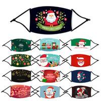 США СТОК! Дети Cotton Printed Christmas Party Xmas Маски для лица Мода Дети Анти Пыль Снежинка Рождество Mouth моющийся многоразовый с фильтром