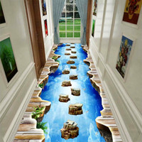 3D Fun Adventure Corredor Corridor Tapetes de Cozinha Quarto Kids Room Decorativo Play Mat Tapete Tapetes Pastoral para Sala de estar