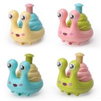 Snail Dinosaur Coruja de imprensa Toy educacionais do bebê dos desenhos animados Brinquedos Walking Inércia carros com Pull Back brinquedo para crianças