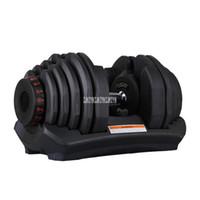 1090 10-90 libras Home Ajustável Dumbbell Silicon Folha de Aço Plástico Rápido Ajuste Ajuste Ajuste Peso Levantamento Indoor Fitness
