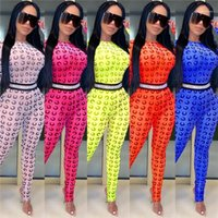 Designer Fashion Printed Womens Jumpsuits Skinny Contrast Color Clothing Sexy Summer Street Style Rompers Womens