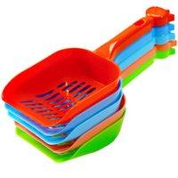 Plastic Pet Fecal Limpeza Spade Multi Color Com Gato Handle Litter Pá duráveis Engrosse Animais Suprimentos LX2915